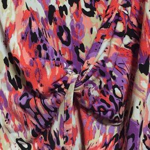 Fun print 3/4 sleeve blouse